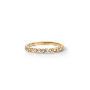 18ct Yellow Gold Honour Band TDW .23CT