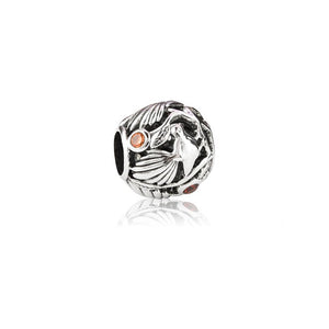 Silver Native Fantail Charm