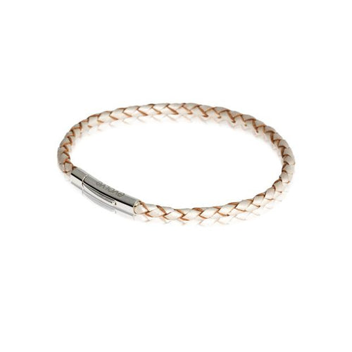 Pearl Leather Twist Bracelet Single 18cm