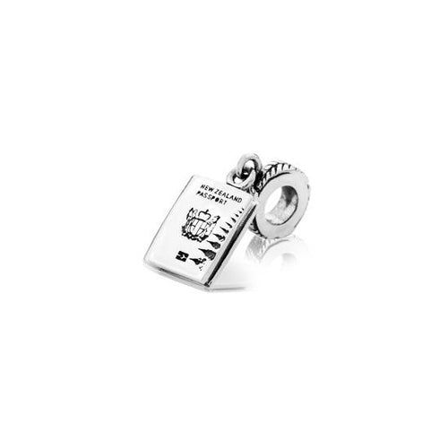 Silver NZ Passport Hanging Charm