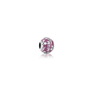 Mum (Unconditional Love) Charm - Fuschia