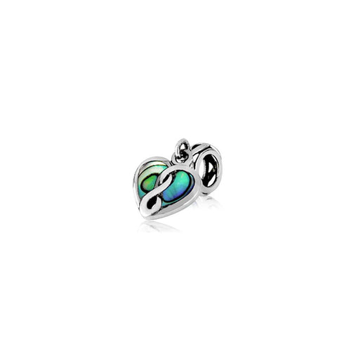 Eternity Paua Heart Charm