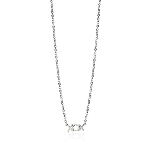 Silver Lil Hugs and Kisses Necklace