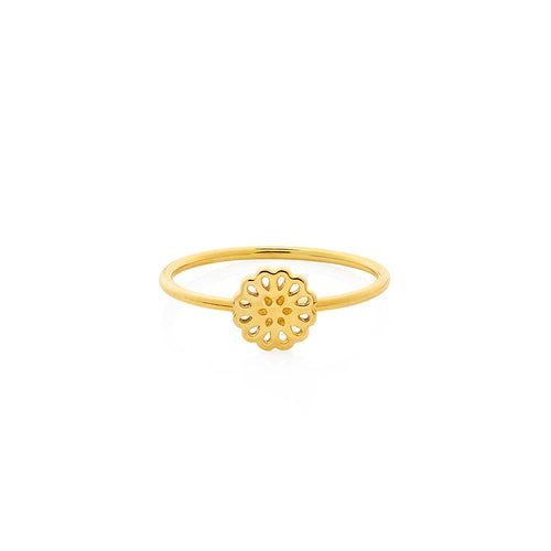 9ct Gold Lotus Ring
