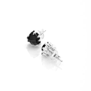 Silver Love Claw Earrings - Onyx