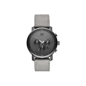 Chrono Grey Leather Men's Watch