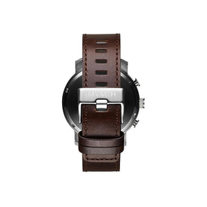 Chrono Brown Leather Men's Watch