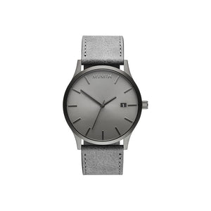 Classic Grey Leather Men's Watch