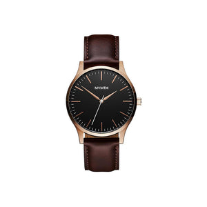 40 Series Brown Leather Men's Slim Watch