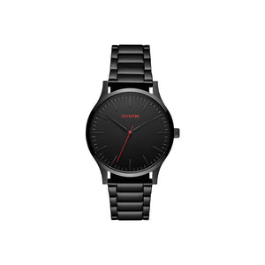 40 Series Black Steel Men's Slim Watch