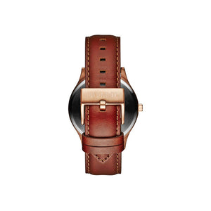 40 Series Natural Leather Men's Slim Watch