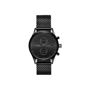 Voyager Black Steel Men's Multi-function Watch
