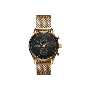 Voyager Gold Mesh Men's Multi-function Watch