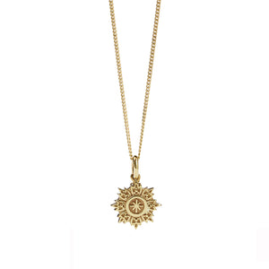 9ct Gold Radiant Charm Necklace