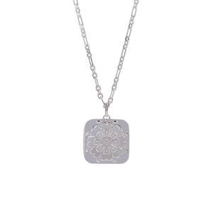 Silver Marigold Locket