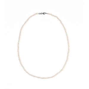 Silver Micro Pearl Necklace
