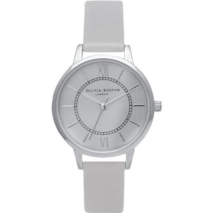 Wonderland Silver Case Grey Watch