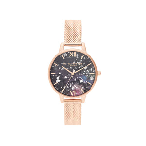Celestial Rose Gold Boucle Mesh Watch