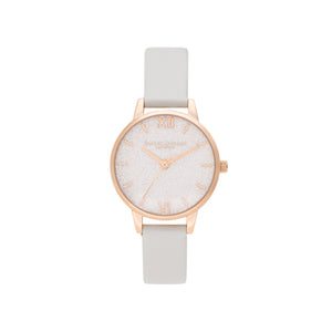 Glitter Dial Vegan Blush & Pale Gold Watch