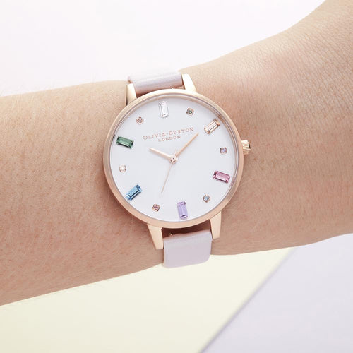 Rainbow Blossom & Rose Gold Watch