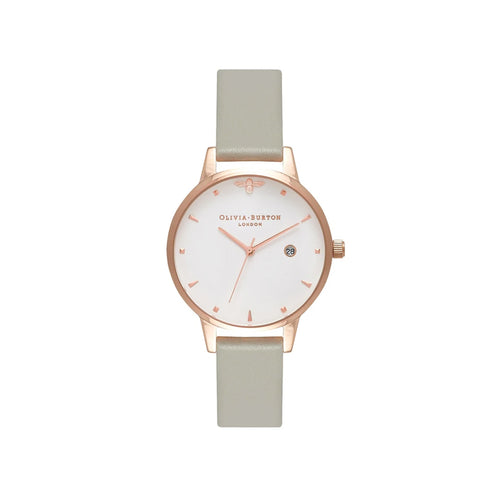 Queen Bee Midi Dial Grey and Rose Gold Watch