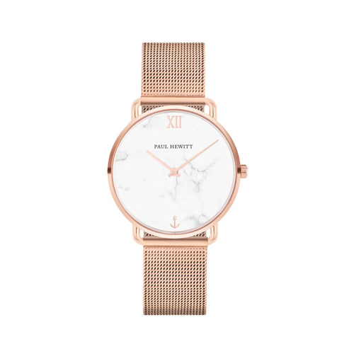 Miss Ocean Rose Gold Tone Marble Mesh 33mm Watch
