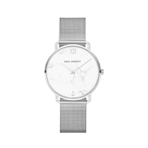 Miss Ocean Stainless Steel Marble Mesh 33mm Watch