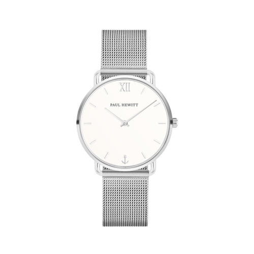 Miss Ocean White Sand Mesh 33mm Watch