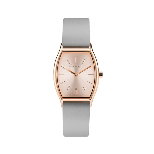 Modern Edge Line Rose Gold Leather Watch