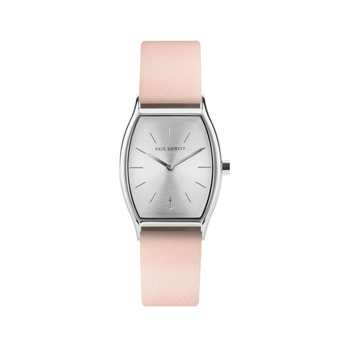 Modern Edge Line Silver/Nude Leather Watch