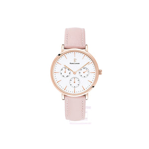 Symphony Rose Gold White Pink Leather Watch