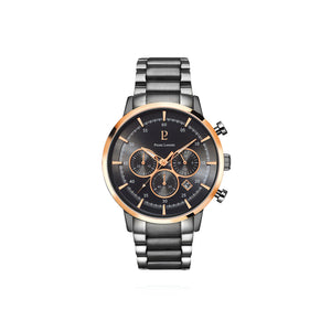 Capital Chrono Rose Gold Black Grey Link 43mm Watch