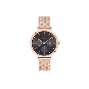Symphony Rose Gold Black Rose Gold Mesh Watch