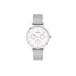 Symphony White Silver Mesh Watch