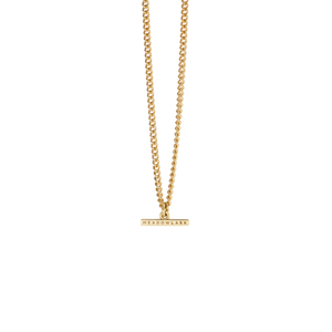 Gold Plated Petite Fob Chain Necklace