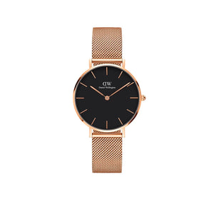 Petite Melrose Black Rose Gold 32mm Watch