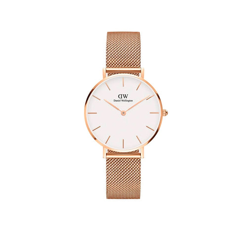 Petite 32mm Melrose Rose Gold White Watch