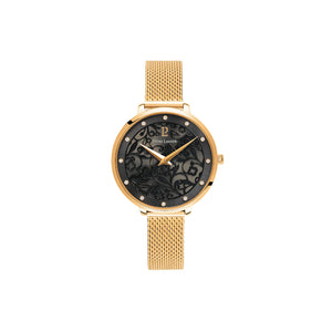 Eolia Gold Black Gold Mesh Watch