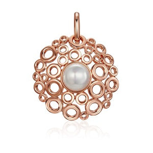 Rose Gold Champagne Bubbles Pendant