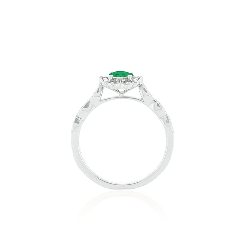 18ct White Gold Rosalia Emerald Ring