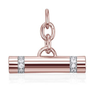 Rose Gold Raise The Bar Pendant