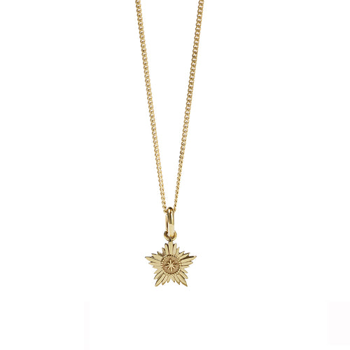 Gold Plated Maiden Charm Necklace