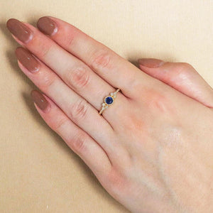 9ct Yellow Gold Evie Sapphire Ring