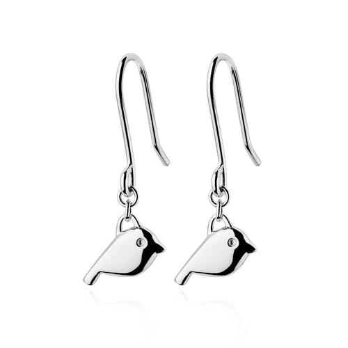 Silver Robin Earrings