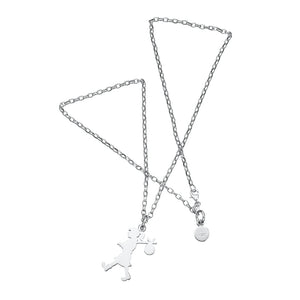 Silver Large Runaway Girl Necklace