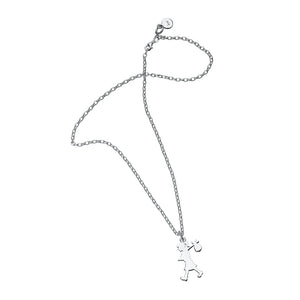 Silver Runaway Girl Small Necklace