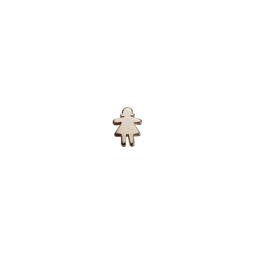 9ct Rose Gold Stowaway Girl Charm