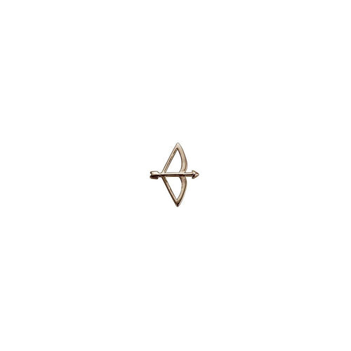 9ct Rose Gold Bow and Arrow Charm