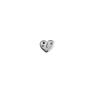 Silver Piece of My Heart Charm (Duo)