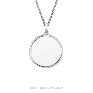 Silver Large Locket 28mm